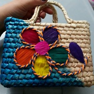 Little Girls/toddlers Mexican Woven Bag